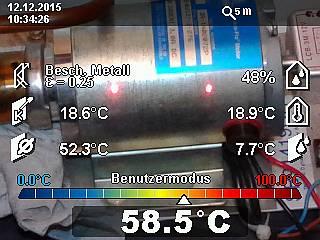 Bosch GIS 1000 C: Temperaturmessung an einer Pumpe eines thermischen Solarkollektors