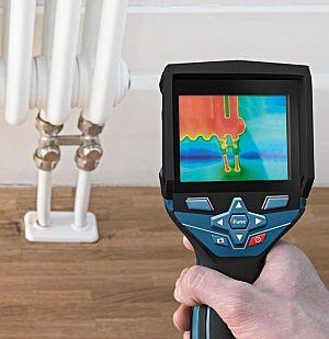 Heizkörper in der Bosch GTC 400 C Wärmebildkamera