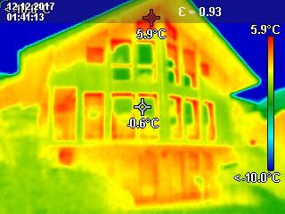 Thermografie einer Fassade