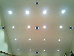 Decke mit eingebauten LED-Spots